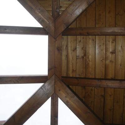 Coperture in legno casa unifamilare