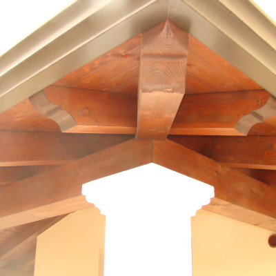 Copertura in legno casa unifamiliare